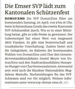 Bundner Tagblatt ..